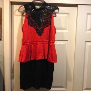 Red and black dress from Dots size 2x